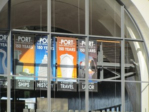 San Francisco Port 150th anniversary signs