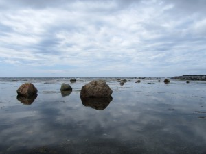 Gros Morne Rocks and Sky at Rocky Harbour